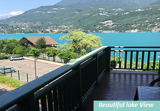 Duingt - 180° lake view for this one bedroom apartment